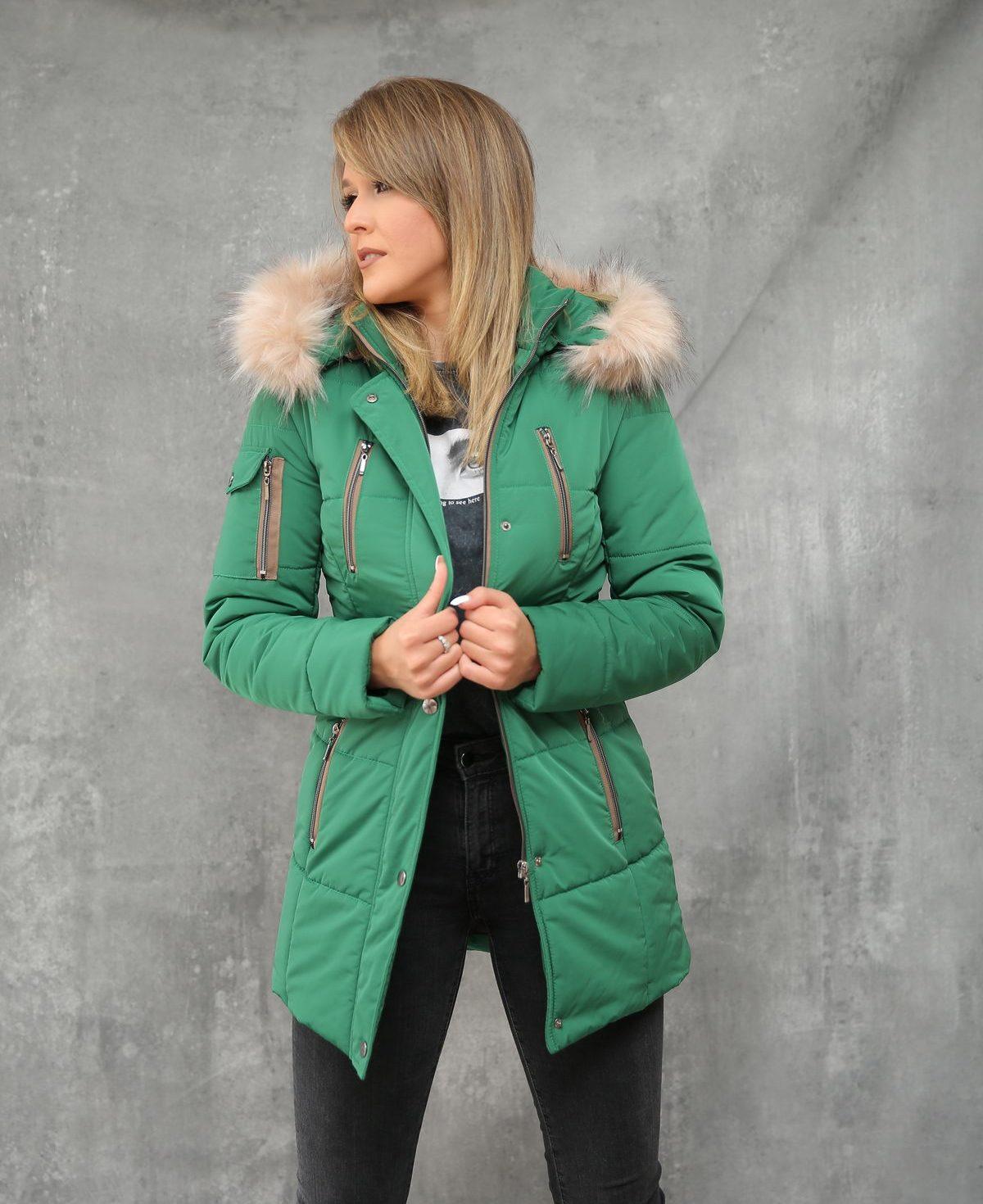 Ženska jakna ForteFashion model E4 (zelena)