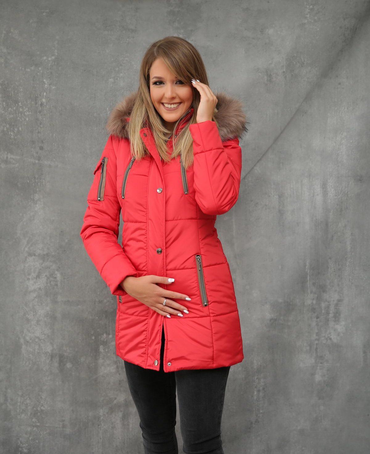 Ženska jakna ForteFashion model E4 (crvena)