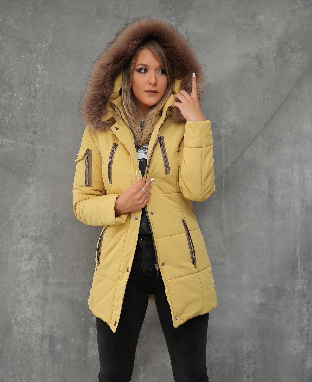 Ženska jakna ForteFashion model E4 (žuta)